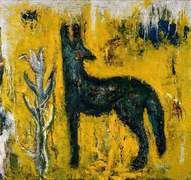 Wolf, 1985, oil on canvas, 66.92 x 70.86 in