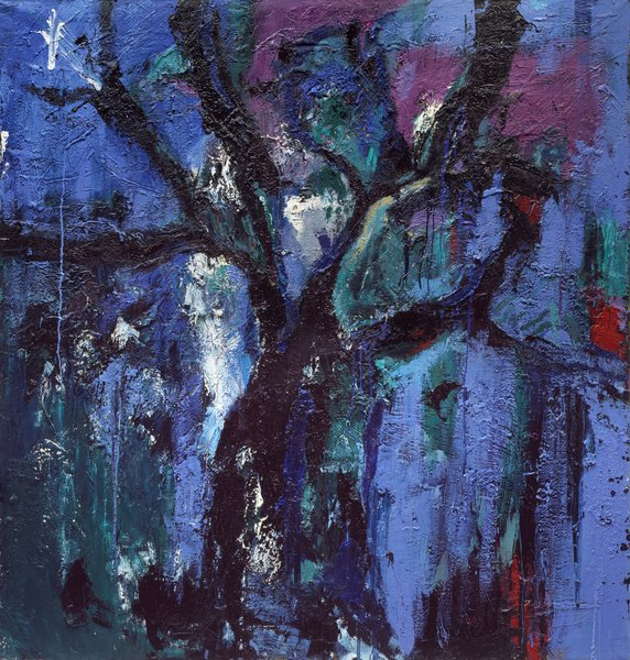 Tree, 1985, oil on canvas, 70.86 x 66.92 in