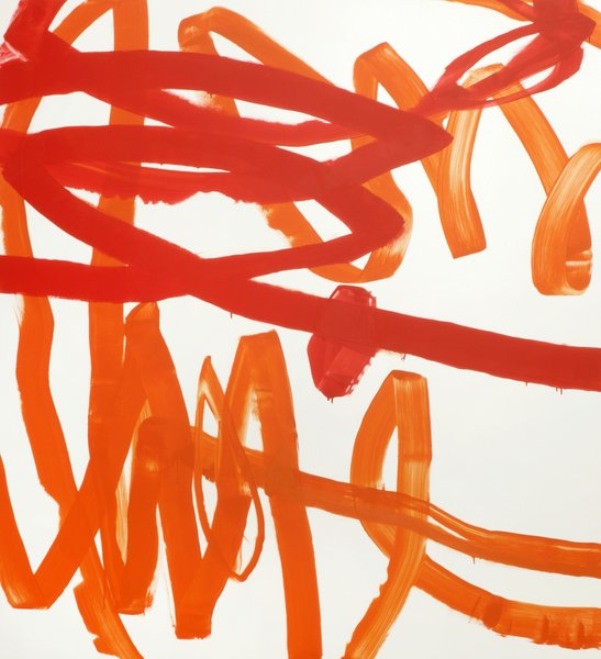 untitled, 2011, lacquer on aluminum, 85.04 x 78.74 in