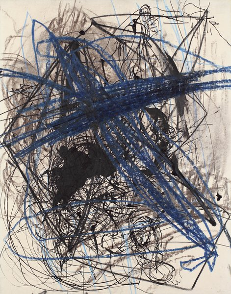 untitled, 1989, mixed media, paper on wood, 17.72 x 13.78 in